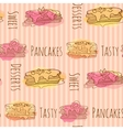 pancake Seamless pattern with vector image vector image