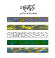 pattern brush strokes of reptile skin doodle vector image vector image