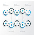 person icons colored set with social relations vector image vector image