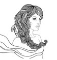 portrait scorpio astrological sign as a vector image vector image