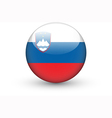 Round icon with national flag of Slovenia vector image vector image