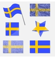 Set with Flags of Sweden vector image
