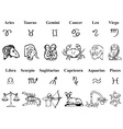 signs of zodiac on white vector image vector image