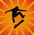 Skater Silhouette vector image vector image