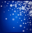 snowflakes border for christmas vector image