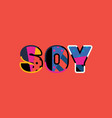 soy concept word art vector image