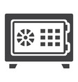 strongbox solid icon bank safe and security vector image vector image