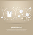 t-shirt icon on a brown background with elegant vector image vector image