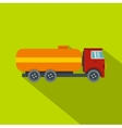Tanker truck icon flat style vector image vector image