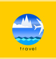 travel and vacation concept vector image vector image