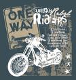 urban rebel rider vector image vector image