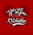 valentines day text on heart background vector image