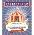 Vintage circus poster template vector image