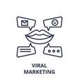 viral marketing line icon concept viral marketing vector image vector image