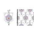 watercolor mandala print and seamless vector image vector image