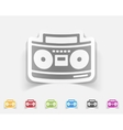 realistic design element cassette recorder vector image