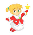 cute cartoon christmas angel character vector image