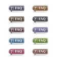 FAQ Symbols set eps10 vector image
