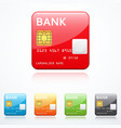 set of bank card icons vector image