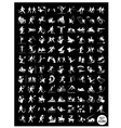 A Set of Black and Gray Sport Icons vector image vector image