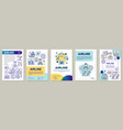 airline brochure template layout air transport vector image