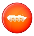 Army battle tank icon flat style vector image vector image