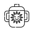 baglass icon design clip art line icon vector image vector image