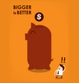 big piggy bank vector image