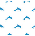 blue dolphin pattern seamless vector image vector image