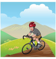 boy riding a mountain bike vector image vector image