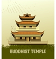 Buddhist Temple old vector image vector image