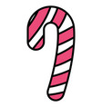 candy cane design vector image