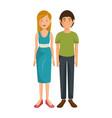 cartoon couple icon vector image vector image