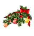 christmas branche vector image vector image