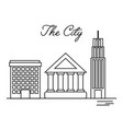 city building residential architecture vector image