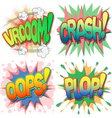 Comic Book Exclamations vector image vector image