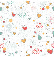 creative hand drawn seamless pattern with vector image vector image