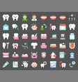 dentist and dental clinic related icon flat style vector image
