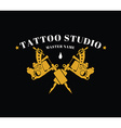 design a logo with a tattoo machines vector image