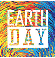 Earth Day Logo Grunge texture in separate layer vector image vector image