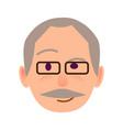 elderly human in glasses with distrustful look vector image vector image