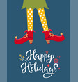 elf feet flat cartoon colourful vector image