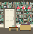 Empty Reading Seat With Bookcase vector image