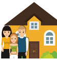 family home residential image vector image