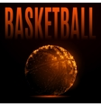 fire basketball ball vector image vector image