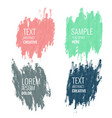 four watercolor banner with text space vector image vector image