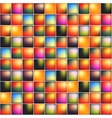 Glossy colorful mosaic square cells grid vector image
