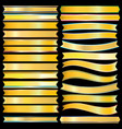 gold ribbon vector image