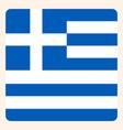 greece square flag button social media vector image