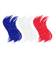 grunge brush stroke with national flag of france vector image vector image